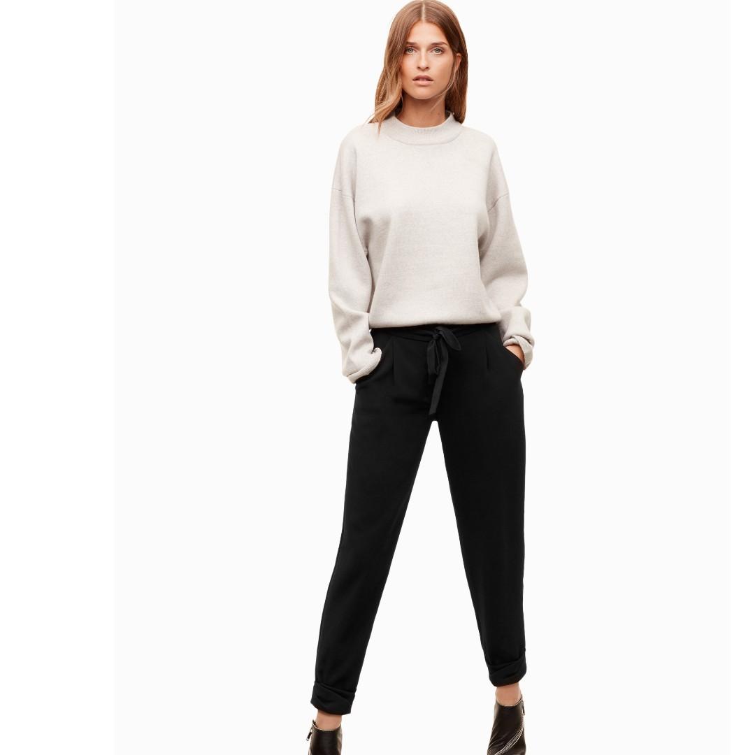 $125 Wilfred Aritzia Allant black Pant Trouser size 10