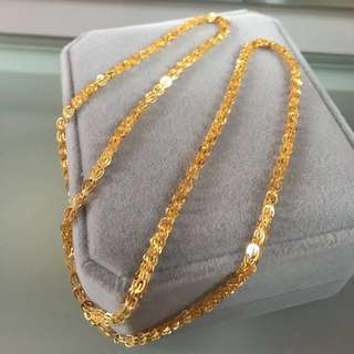 18k yellow gold necklace頸鍊