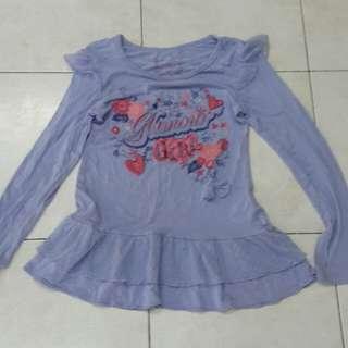 Girl Shirt Top 8yrs old - Baju Anak Perempuan 8 tahun