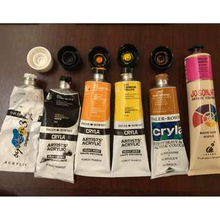Daler Rowney Acrylic Paint tubes