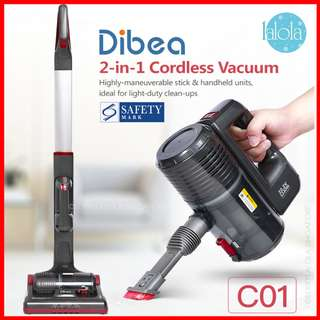 ✔FREE DELIVERY: Dibea® C01 Fluffy Cordless Vacuum Cleaner 2-in-1 (FREE DOORSTEP DELIVERY) LOCAL WARRANTY