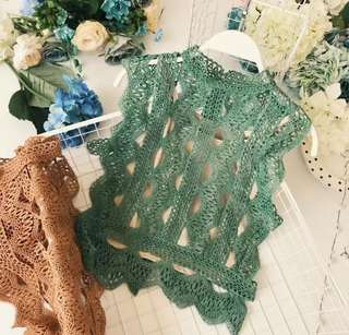 LACE TOP GREEN