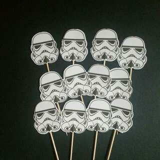 Cupcake Toppers Starwars Stormtroopers Free normal post
