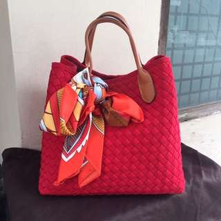WEBE Red Tote Bag