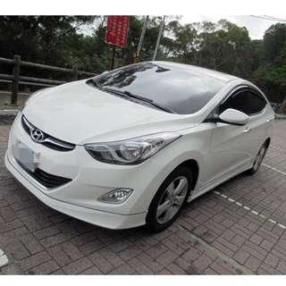 2013 Hyundai ELANTRA 1.8白