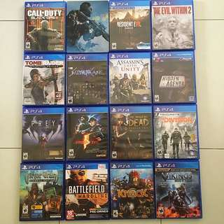 PS4 Games Bundle List (Pre-owned Game List)
