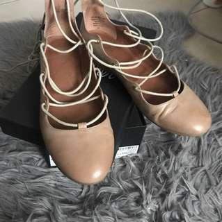 Ballet lace up flats