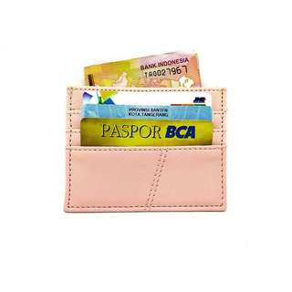Card holder SOFT PINK 6 slot card + money