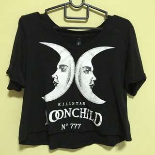 [CLEARANCE] Black moon child Crop TOP