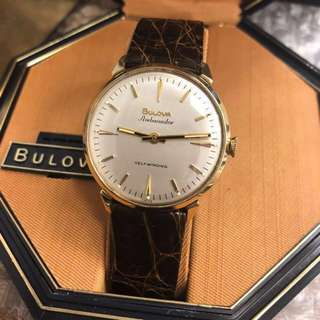 🇺🇸 New Old Stock 1965 Vintage 10k gold filled BULOVA Ambassador automatic watch。可遇不可求!