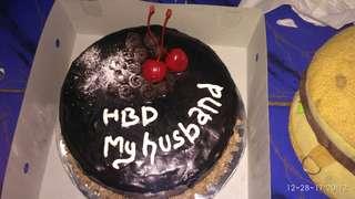 cake coklat ganache (birthday cake)