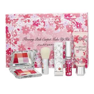 Jill Stuart 4-Piece Flowery Pink Carpet Make Up Kit 1set , 4pcs