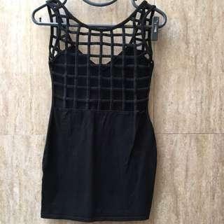 Motel Rocks Black Party Dress