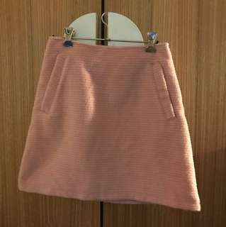 Cute fuzzy pink skirt