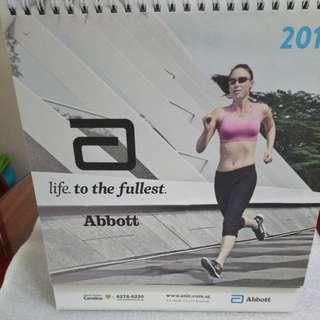 2018 desk calendar from Abbott