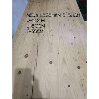 Meja lesehan kayu jati blanda