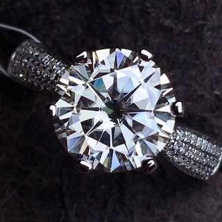 18K 白金GIA鑽石戒指(歡迎詢價)