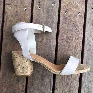 Pink Suede Medium Heeled Sandals