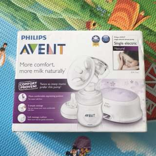 Avent Breast Pump and disposable breast pads