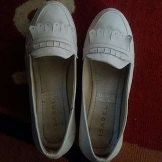 White loafers shoes