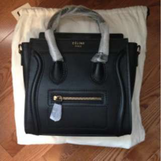 (米蘭直送) Celine luggage nano bag 黑色 笑臉袋 手袋