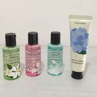 Body cleanser and hand cream