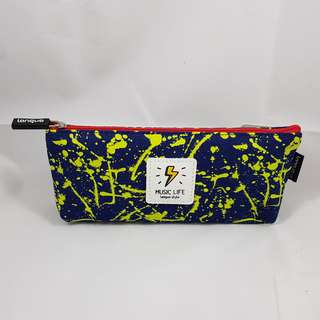 Splatter Paint Pencil Case (Yellow with Blue)