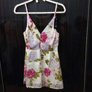 BNWT Floral Spag-strapped Short Dress  [Buy 1 Get 1 Free]