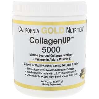 California Gold Nutrition, Collagen UP 5000, Marine Sourced Collagen Peptides + Hyaluronic Acid + Vitamin C, 7.23 oz (205 g)