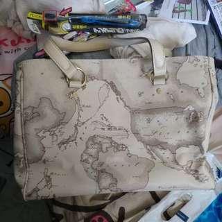 地圖手挽袋