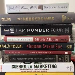 Books (novels, marketing, poems)