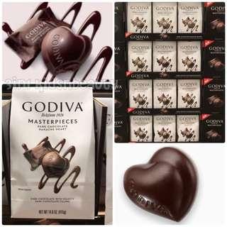 GODIVA Dark Chocolate 心心黑朱古力 (HKD 100.00/ 包 (購買 5包起)/HKD110.00/ 包 (購買 2包起)