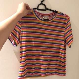 monki rainbow striped tee