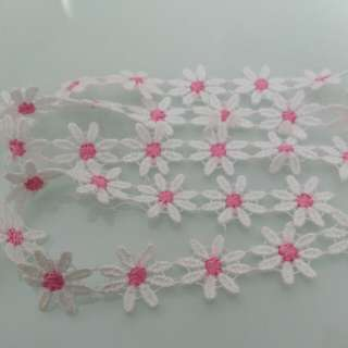 Embroidery White Flowers Lace