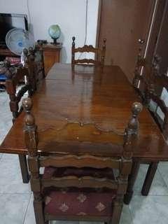 Meja Makan Jati Tua Antik usia 70 tahun lebih