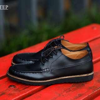 Costa Black - Footstep Footwear | Derby Shoes Sepatu Sneakers Pria Warna Hitam Size 40-44