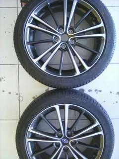 Velg Subaru BRZ R17 dan 4 Ban  Michellin