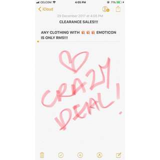 RM5 FOR ALL CLOTHING WITH 💥 EMOTICON!