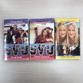 Set of 3 Sweet Valley University etc Books