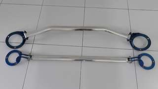 Cusco Front and Rear strut bars for GDA/B STi/WRX