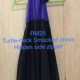 Turtle neck bareback dress