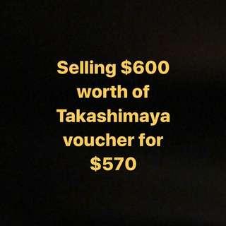 Takashimaya Vouchers $600