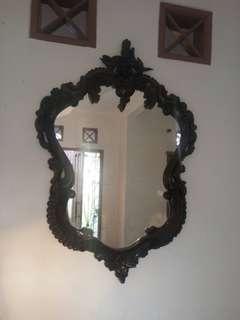 Cermin Rias Jati Tua usia 50 tahun lebih