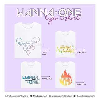 WANNAONE Nothing Without You Typograpgy T-shirt