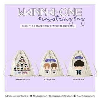 WANNAONE Beautiful Drawstring Bag