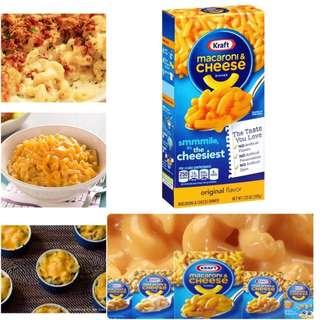Kraft macaroni & cheese 芝士撈通粉(HKD15.00/ 盒 (購買5盒或以上))