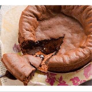 代購拉提莎6寸巧克力半熟凹蛋糕