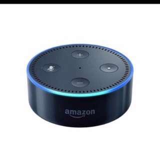 Black Amazon Echo Dot 2nd Generation