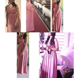 Bridesmaid Dress Rosegold