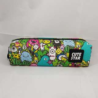 Printed Monsters Green Pencil Case